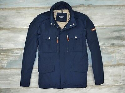 Hackett London Men's Correspondent Blue Navy Jacket Size L Large