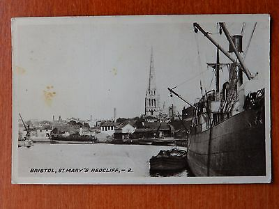1933 Wyman's  photograph postcard: Bristol St Mary's Redcliffe Harbour shipping