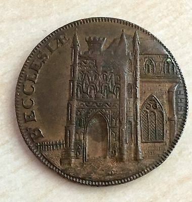1795 High Grade Conder Token - Becker Cathedral (A137)