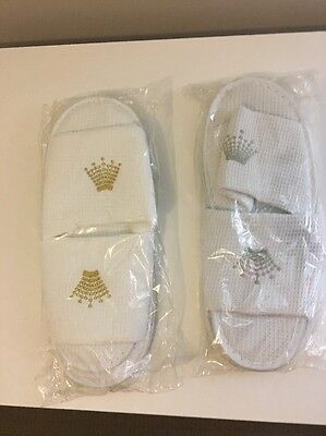 Crown Casino Slippers x2 pairs - Crown Souvenir or gift