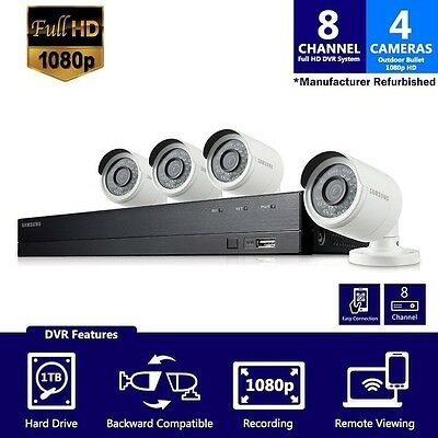 SDH-B74041 - Samsung 8 Channel 1080 Full HD HD Video Security System With 4