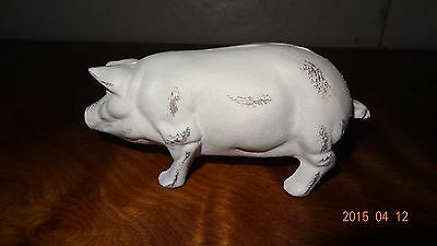 Vintage cast iron white pig primitive