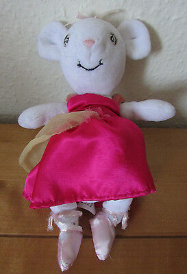 Fab Cute *angelina Ballerina* Plush Soft Toy Beanie With Outfit