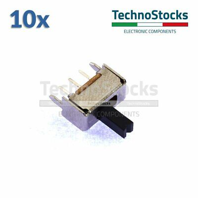10x Mini Deviatore Slitta SPDT 3pin Interruttore - Toggle Slide