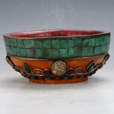 Chinese Hand-carved Turquoise Bow     CC297