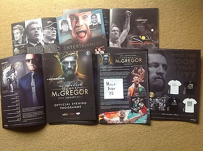 Experience With Conor McGregor Official Evening Program Event City UK appearance