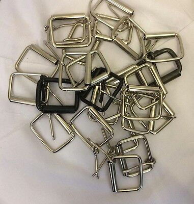 25x Standard Metal Belt Buckles