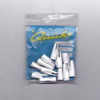 10 plus 2, 5/16's BOHNING CLASSIC WHITE NOCKS FOR WOOD ARROWS