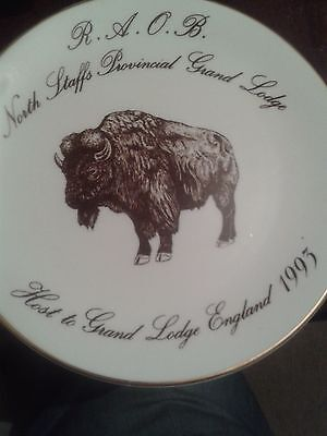 Royal Antediluvian Order Buffalos Grand Lodge Staffordshire.Limited Ed. Plate