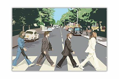 Famous Beatles Abbey Road Pop Art Poster Wall Art Prints Hollywood Movie Legends