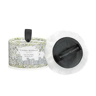 Woods of Windsor Body Dusting Powder with Puff for Women, Lily The Valley,..