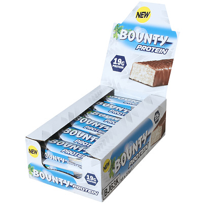 Bounty Protein Bar High In Protein Snack Bars Mars Snickers 51g x 18+FREE SAMPLE