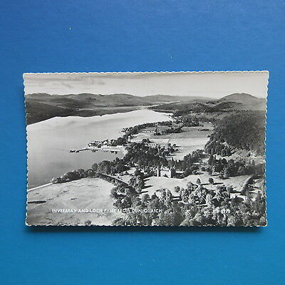 Old Postcard of Inveraray and Loch Fyne from Duniquaich.