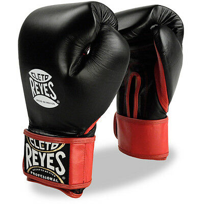 Cleto Reyes Extra Padding Leather Boxing Training Gloves - Black