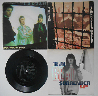 """THE JAM 4 x 7"""" Going Underground/Beat Surrender/Move on Up Flexi/Town Called Mal"""