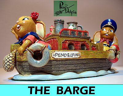 NEW rare HTF Pendelfin The Barge , boat Limited edition figurine w/ Box