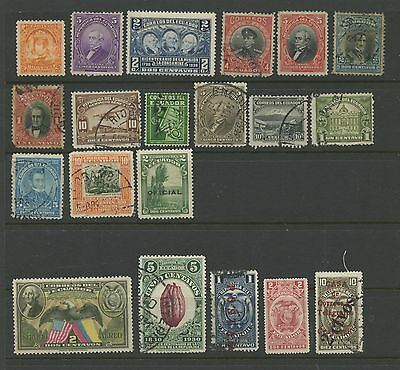 ECUADOR--Lot of 20 different stamps