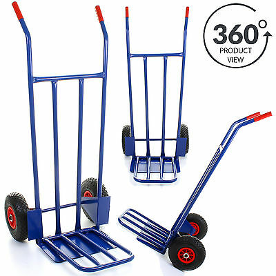 Hand Sack Truck Heavy Duty 600LB Industrial Trolley Warehouse Pneumatic Tyre NEW