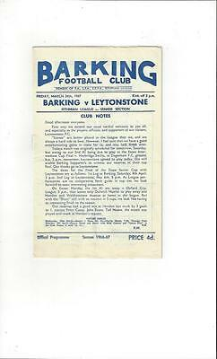 Barking v Leytonstone 1966/67 Football Programme