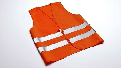 Original Audi Signal Vest High Visibility for Adults Orange 8x0093056a