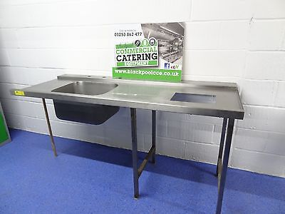 1.8M Pass Through Dishwasher Stainless Steel Commercial Catering Sink Unit