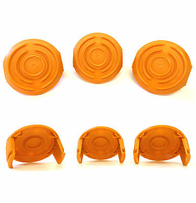 6 Pack WORX GT Spool Cap Cover WA6531 Trimmer Edger Cordless Trimmers 50006531