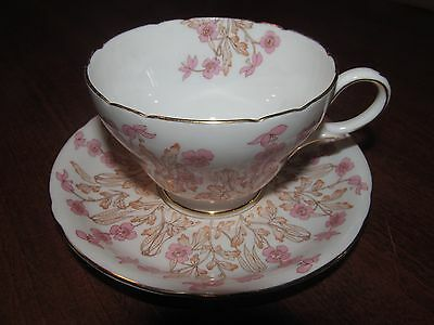 """Shelley Potteries Ltd Teacup & Saucer Hedgerow Ideal China """"Pattern 0189"""""""