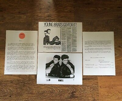❤️FANTASTIC VERY RARE 4 PIECE PHOTO PRESS KIT~George Michael/Wham!❤️