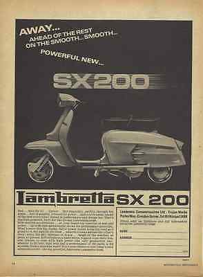 1 Only! Orig. 1968 Lambretta 200 Sx Scooter Sales Poster/ad