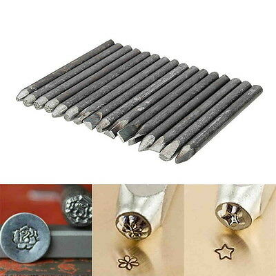 16pcs Assorted Punches For Jewelry Flower Punch Stamp Steel Stamp Punch Tools %