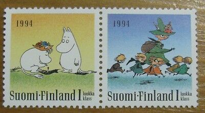 MNH Moomin stamps pair 1994 2 stamps Finland!