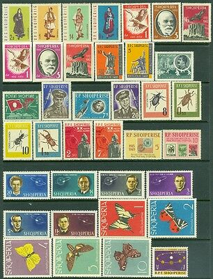 EDW1949SELL : ALBANIA Collection of all VF MOG Cplt sets & S/S 1962-64. Cat $240