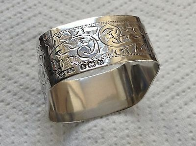Antique Sterling Silver Napkin Ring by Birmingham Maker H Williamson Ltd 1928