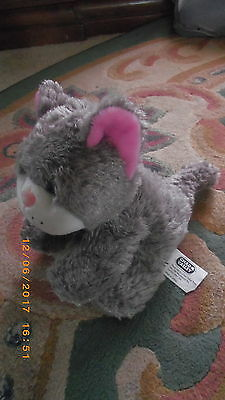 Chad Valley Small Grey Cat Kitten Soft Toy 6-7 Inches