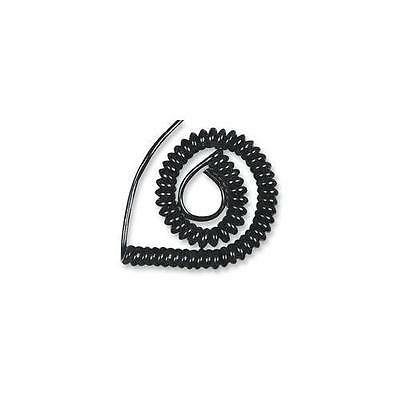 Pro Power - 15/x/11 Black 1A - Coiled Mains Flex/black 0.2Mm 1.5 Metres Extended