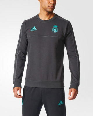 Real Madrid Adidas Felpa Allenamento Training Sweatshirt Nero cotone 2016 17