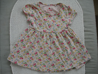Baby Girls Pink Floral Tunic Dress Age 6-9 months- Next