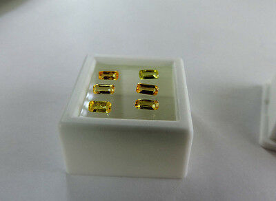 6 Loose Emerald Cut Natural Sri Lanka Sapphires. These are very nice :) 1.20ct