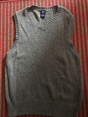 Gap Boys Lightweight Sweater Vest Size Small 6/7 Vguc Gray