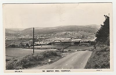 Postcard Wales. The Mountain Road, Caerphilly. Posted 1960