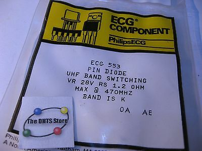 ECG553 Sylvania PIN Diode UHF Band Switching NTE553 NOS Qty 1