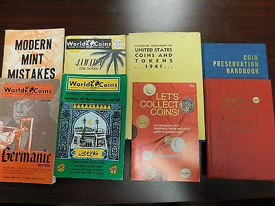 Lot of (8) Vintage Coin Books!! U.S./World Books, See Listing!  AUCTION!