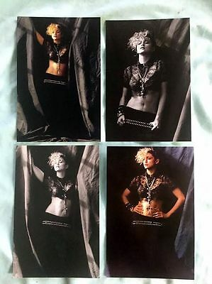 MADONNA set of 4 postcards 4x6 1984 Herb Ritts borderline lucky star burning up