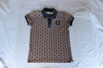 Scotch and Soda Boys Anker Print Polo T Shirt Age 12 Good Worn Condition