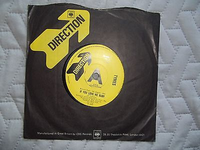 The Tymes-If You Love Me Baby 1969 Direction Demo / Promo 45 Ex.