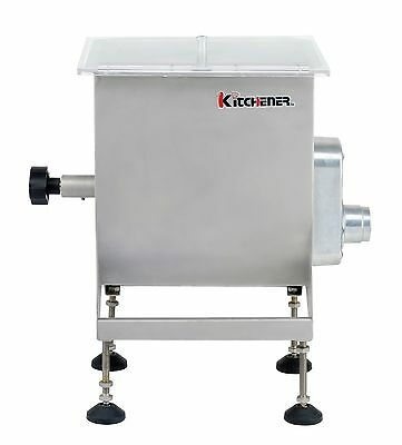 Kitchener Stainless Steel Motorized or Manual Meat Mixer, 25-lbs Capacity by ...