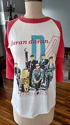 Vintage 1984 Duran Duran T Shirt Seven and the Ragged Tiger Baseball Women's M