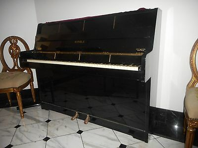 KEMBLE CLASSIC UPRIGHT PIANO in BLACK Two pedals #122113