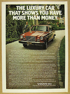 1975 Volvo 164 bronze sedan car color photo vintage print Ad