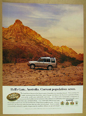 1996 Land Rover Discovery 'Hell's Gate Australia' photo vintage print Ad